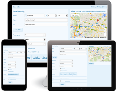 minicab booking system
